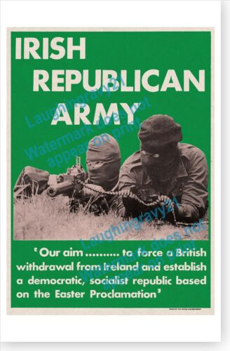 Irish Republican Movement Easter Proclamation British Withdrawal 1970/'s Poster
