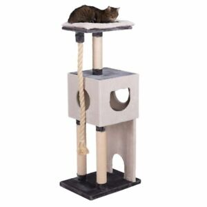 Best-Cat-Tree-For-Large-Cats-With-Rope-Scratching-Sisal-Board-and-Posts-Den-Bed