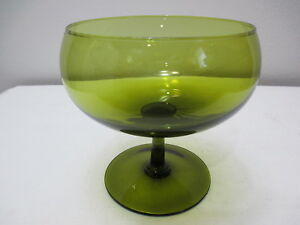 Vintage Green Glass Compote Buy One Give One Decorative Arts