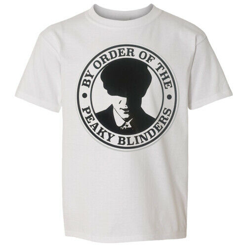 BY ORDER OF PEAKY BLINDERS White T-Shirt//TOP MENS  CLOTHING