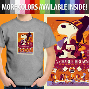 Charlie-Brown-Thanksgiving-Peanuts-Snoopy-Movie-Unisex-Kids-Tee-Youth-T-Shirt