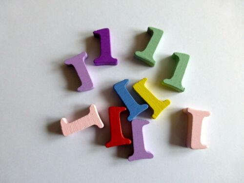 10 Zahlen Holz ca:14mm Kartengestaltung Basteln  Scrapbooking Beispielbild