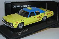 Minichamps 400144795, Dodge Monaco TEXAS CAB TAXI 1974, limited Edition, 1/43