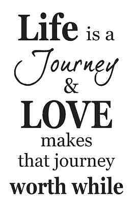 Primitive STENCIL*Life is a journey and LOVE*for Signs Crafts Scrapbook Airbrush