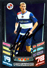 Reading F.C Pavel Pogrebnyak Hand Signed 12/13 Premier League Match Attax.