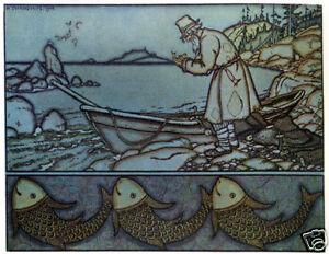 Swan Princess Bilibin Russian Folk Art Print