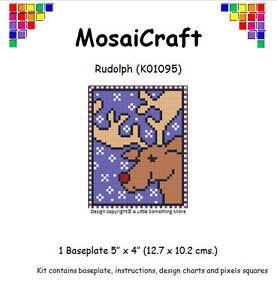 MosaiCraft-Pixel-Craft-Mosaic-Art-Kit-039-Rudolph-039-Pixelhobby