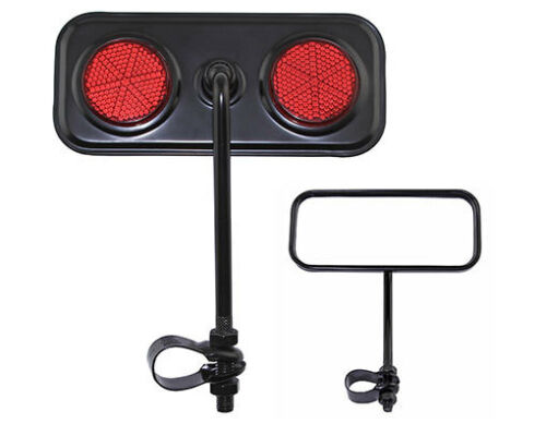 NEW! Black Rectangle Rear View Bicycle Mirror Reflector Cruiser Lowrider Bike