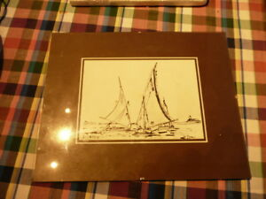 Drawing With Ink The Der Boats Sailboat Signed Dromer - Cote Akoun