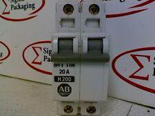 Allen-Bradley 1492-CB2 Circuit breaker H200 Ser B 20A 2 Pole 480V