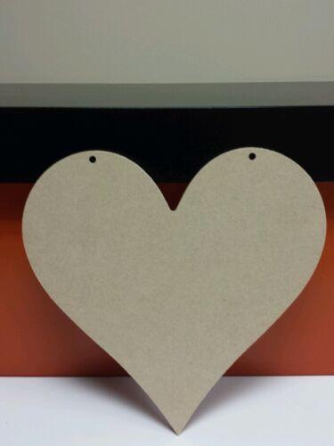 4 x Wooden Mdf hearts 200mm x 200mm No hole//1 hole//2 holes