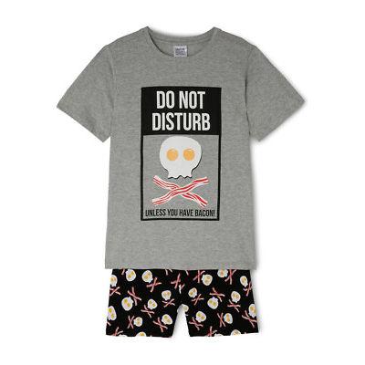 NEW Bauhaus Essentials Short Sleeve Pyjama Set Grey Marle