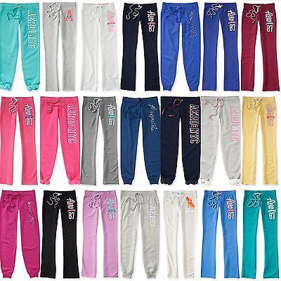 NEW Aeropostale Women Aero Sweats NYCCAPRI CLASSIC CINCH LOUNGE Sweat Pants