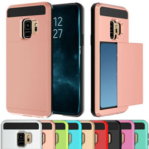 Shockproof-Credit-Card-Slot-Holder-Case-Cover-For-Samsung-Galaxy-S8-S9-Note-8-5
