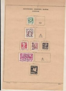 sweden stamps page ref 18167