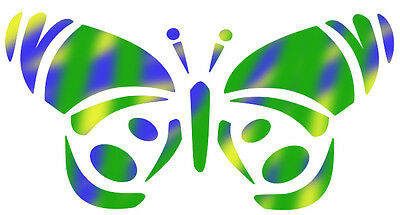 Re-Useable Mylar Butterfly # 132 Temporary Tattoo Airbrush Stencil