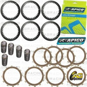 Apico Clutch Kit Steel Friction Plates /& Springs For Kawasaki KX 85 2016 MotoX