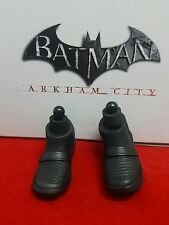 1/6 Hot Toys Arkham City Batman VGM18 Pair of Dark Grey Boots + Pegs *US Seller*