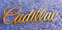 Abs 1970s-90s Cadillac Models Gold Ornament Emblem 6.5 Inches By 2 Inches