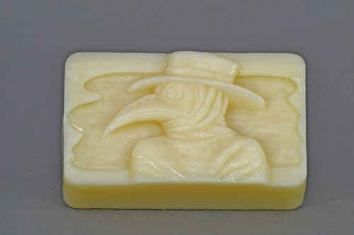 PLAGUE DOCTOR SILICONE MOULD SOAP RESIN PLASTER CLAY WAX MOLD  5,5OZ BATH BOMB
