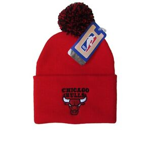 85432689c9b Image is loading Chicago-Bulls-NBA-Adidas-Pom-Beanie-OSFA-New-