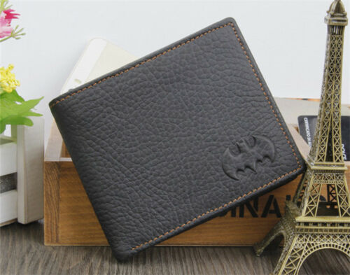 Cool Men/'s Batman Leather Bifold Wallet Credit//ID Card Holder Slim Coin Purse