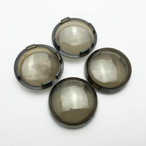 4x Smoked Lens Turn Signal Light Cover Bulb For Harley Glide Dyna Fatboy Road