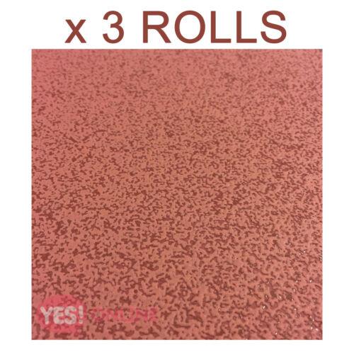 Plain Red Wallpaper Luxury Textured Vinyl Embossed Cushioned Simple x 3 Rolls