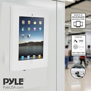 Pyle-Security-Anti-Theft-iPad-Wall-Mount-Lock-amp-Key-Tablet-Device-Holder-Case