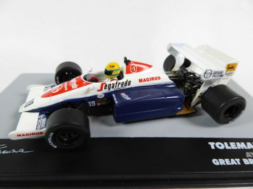 Formel 1 Toleman TG184 Ayrton Senna G.Britain GP 1984-1:43 MODELLAUTO CAR 697