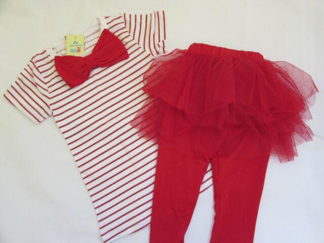 b47586707cc92 Girls 2 Piece Set Tutu Leggings Tee Shirt Skirt Pretty Party Outfit ...