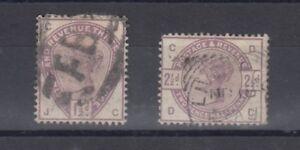 GB-QV-1883-1-1-2d-2d-Lilac-SG189-190-Fine-Used-J2172