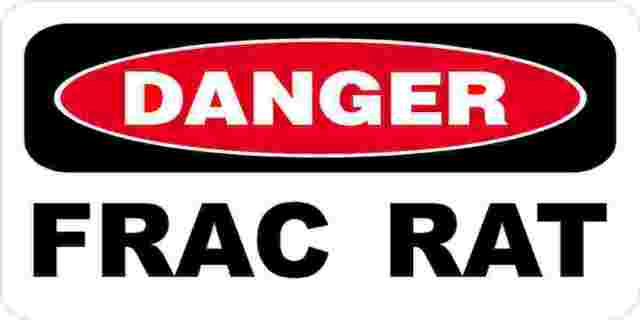 3 - Danger Frac Rat Oilfield Hard Hat Helmet Sticker H537