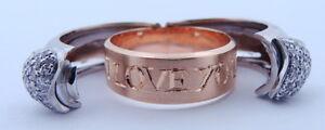 Ladies-Estate-Piece-18K-Gold-I-LOVE-YOU-Diamond-HEART-Craig-Drake-Ring
