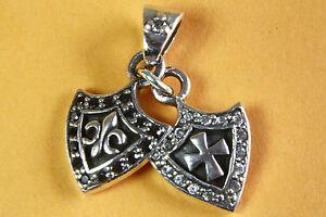 Liberal Royal Fleur-de-lys Lilien Kreuz AnhÄnger 925 SilberanhÄnger 328 Mit Einem LangjäHrigen Ruf