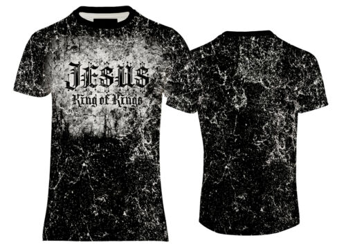 SOFT TOUCH JERSEY T-SHIRT JESUS KING OF KINGS PRINT TEE US//UK FIT/&SIZE
