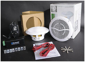 E-Audio-5-25-034-Bluetooth-Ceiling-Speaker-Kit-With-Cable-amp-Amp-For-Bath-Home-Shop