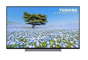 "Toshiba 49U6763DB 49"" SMART 4K Ultra HD LED TV Freeview C Grade 993122"