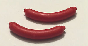 LEGO New Lot of 4 Red City Minifigure Hot Dog Weiner Food Kitchen Pieces
