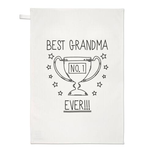 Meilleur Grand-mère jamais No.1 Trophée Thé Serviette Plat Tissu-Drôle Favori