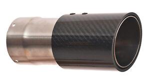 Auspuff-Carbon-Endrohre-Blende-BMW-E92-E90-M3-80mm-Plug-amp-Play