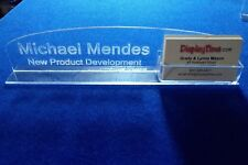 Item 6 Personalized Acrylic Gl Name Plate Bar Desk With Business Card Holder Domed