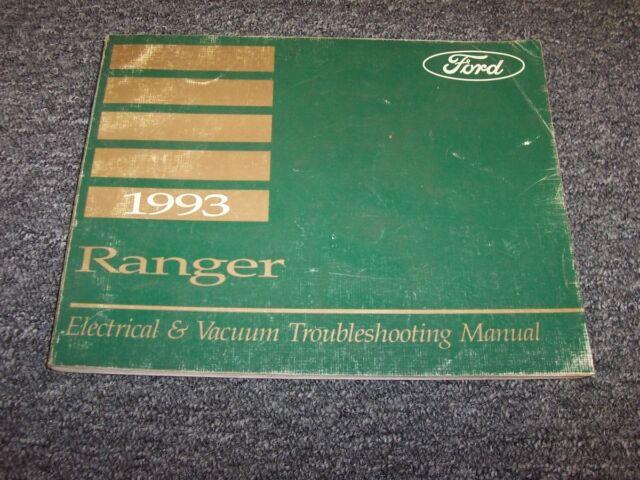 1993 Ford Ranger Electrical Wiring  U0026 Vacuum Diagram Manual