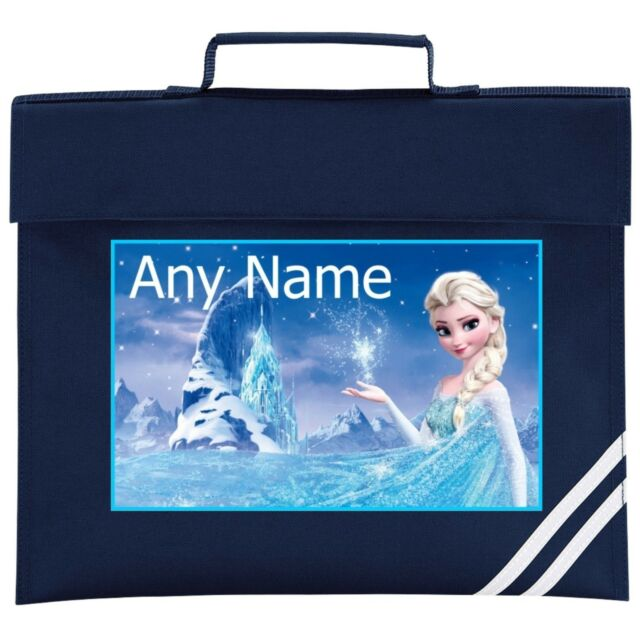 Personalised Elsa/Frozen Style School BOOK BAG. Choice Of Colours.