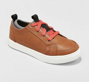 NEW-NWT-Boys-Size-5-Cat-amp-Jack-Brown-Faux-Leather-Lace-Up-Arlo-Sneakers-Shoes