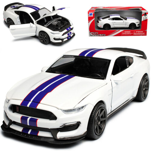 Ford Shelby Mustang gt350r vi Coupe blanco con rayas azules a partir de 2014 1//24 New...