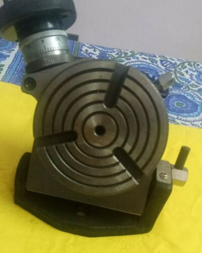 Rotary Table Tilting 4 Inch or 100mm For Milling Machine 4 slots