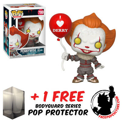 FREE POP PROTECTOR FUNKO POP VINYL IT 2017 PENNYWISE WITH WIG EXCLUSIVE