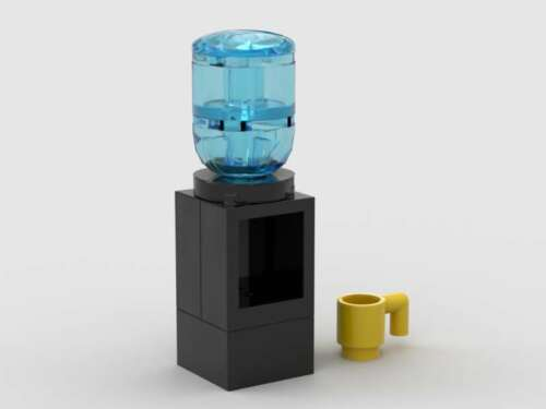 LEGO Water Cooler Dispenser /& Cup Office Home Hospital Minifigure Bottled Water