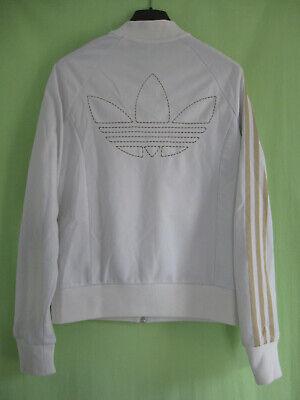 Veste Adidas Originals Trefoil Jacket Blanche Femme Tracksuit vintage 42 | eBay